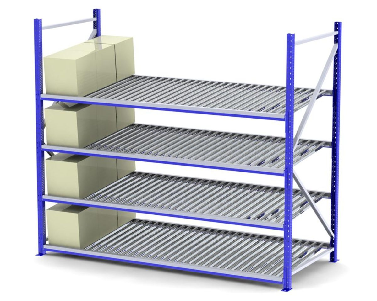 carton flow rack from df2 duraflow system