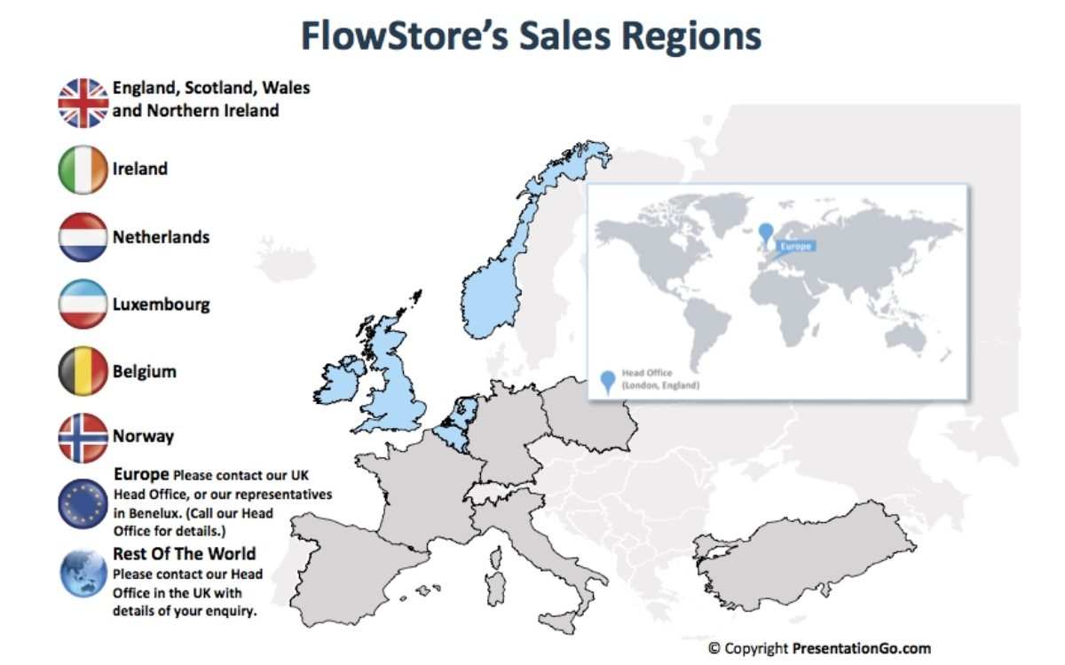 flowstore european sales regions