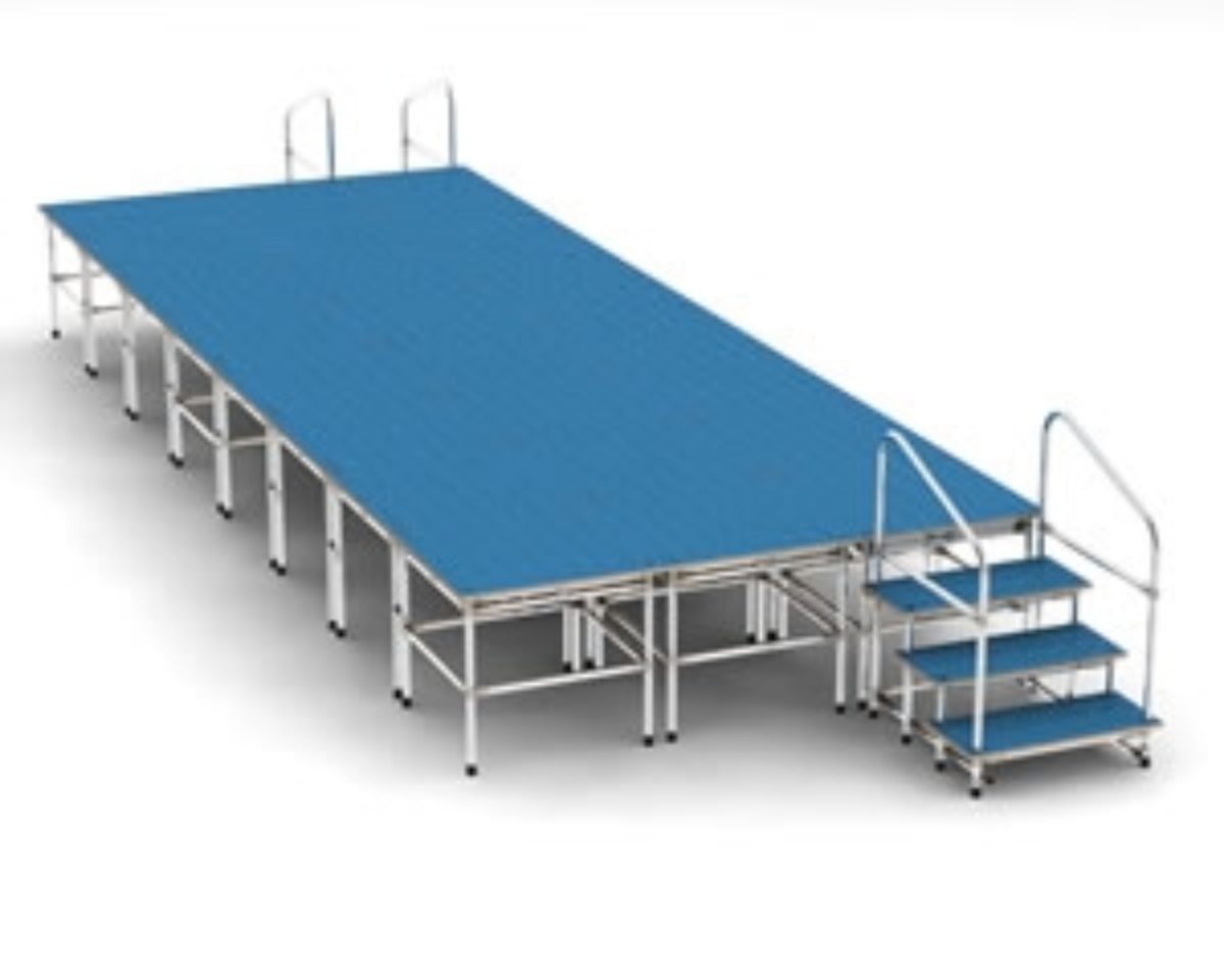 modular stage systems for schools, churches etc