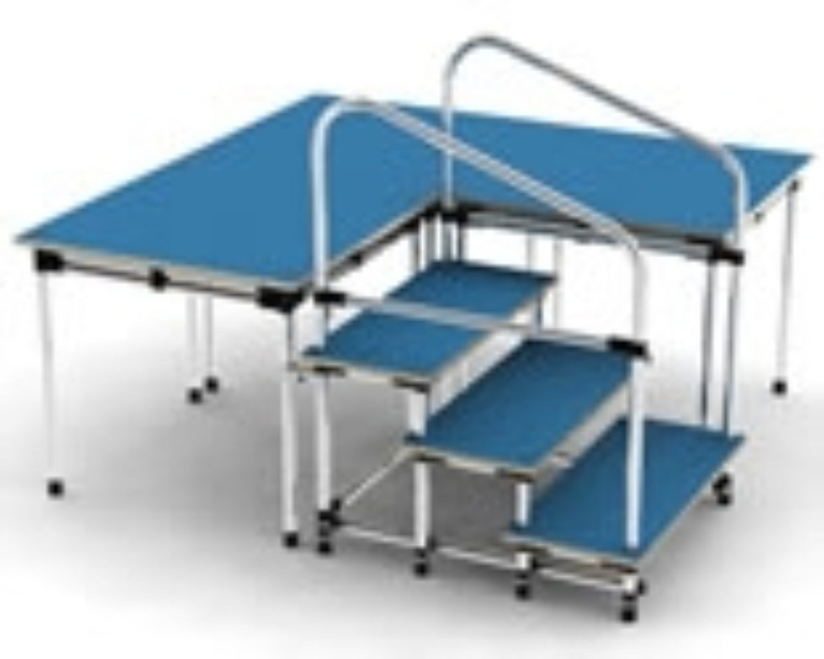 mss modular stage systems for schools, churches etc